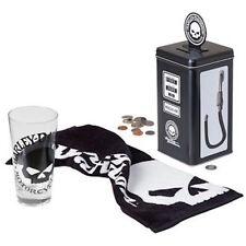 HARLEY DAVIDSON Willie G Skull Tall Glass Set Gas Pump Tin Bank NEW L@@K