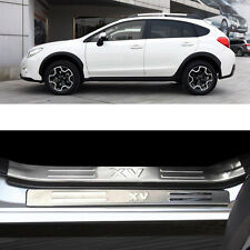 8Pcs Interior / Exterior Door Sill Scuff Plate Guards Protector Subaru XV 2012+