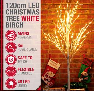 White Birch Twig Christmas Tree With Warm White Lights Pre-Lit Grade A Refurb
