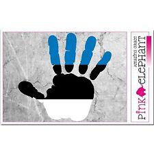 Estland - Hand Palm Finger Print Aufkleber Flag Sticker Motiv Estonia Fahne