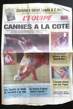 L'Equipe Journal 31/7/1993 Christie plante Lewis/ Cannes-OM/ Ermenault le record