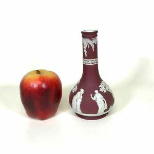 19th Century Wedgwood Crimson Bottle Vase
