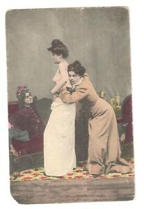1910s Old Risque Vintage Nude woman real photo postcard Beauty nude /197