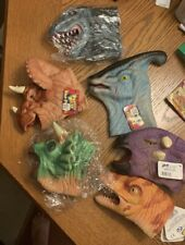 Lot Of 6 Vintage Dinosaur Hand Puppets