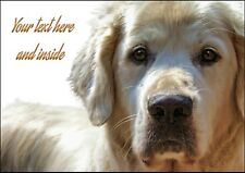 PERSONALISED GOLDEN RETRIEVER DOG BIRTHDAY ANY OCCASION CARD + Illus Insert  A5