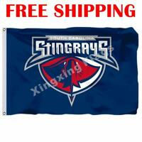 South Carolina Sting Rays Logo Flag ECHL Hockey League 2018 Banner 3X5 ft