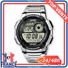Montre Homme Casio Collection Eclairage LED Bracelet Acier Inoxydable Étanche
