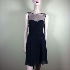 BLUMARINE donna vestito seta Nero taglia M 38 Abito Ballo Tulle Top Party dress robe