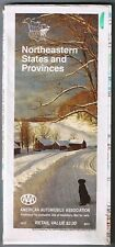 Northeastern States Provinces Road Map 1989 Cover Felchville Reading Vermont