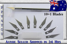 Hobby Knife with 1+10 Steel Blades Penknife replacement for X-ACTO HIGH QUALITY