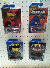 BATMAN HOTWHEELS 4 CARS 2012 1/8  2/8  5/8  8/8