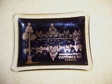 Vintage Midnight in Victoria B.C. Canada Tobacco Pin Tray Made In England