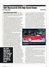 1967 Monteverdi 375S High Speed Coupe  - Classic Article D41