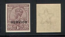 India Indian 1911-23 KGV Imperf Proof on gunned watermark paper MNH RARE !!