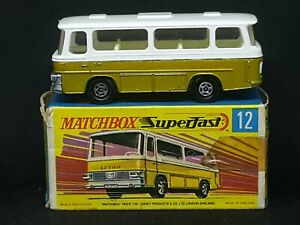 Matchbox Superfast MB12-B2: Setra Coach (Gold), MINT Car in MINT G Box