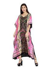 Dress Paisley Kaftan Caftan Size Maxi Women Long Boho Cotton Dress