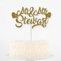 Custom Personalised Die Cut Glitter Birthday Party Cake Topper Name Names Shape