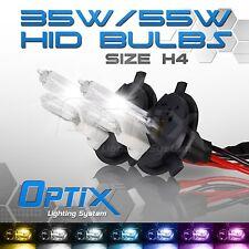 Optix 35W HID Xenon Bulbs Hi Lo Head Light 2x H4 9003 HB2 6000k 6k Diamond (A)