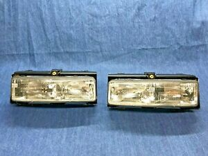1988 - 1991 Cutlass Supreme FWD RIGHT and LEFT Side Headlights Lamp Assembly NOS