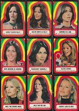 1977 CHARLIE'S ANGELS SERIES 4 STICKER SET (34-44)