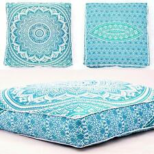 Cotton Handmade Fancy Square Mandala Floor Pillow Cushion Seating Throw Cover
