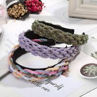 Fashion Braided Crystal Headband Hairband Hair Hoop Accessories Beach Party Gift