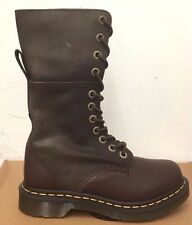 DR. MARTENS HAZIL DARK BROWN  VIRGINIA+DARKEN SUEDE LEATHER  BOOTS SIZE UK 8