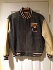 Vintage 1990's Gap State Champs Boy's L Leather Jacket with Embroidered Patch