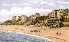 ARQ / Quinton # *3796 by J.Salmon. Tenby from the Sands. Deckchairs.