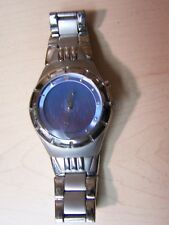 MARBLE WATCH BLUE/GREY FACE WITH FLAMES GREAT CONDITION