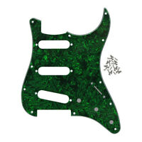 One Green Pearl Guitar Pickguard SSS 11 Holes Scratch Plate for FD Strat Guitar