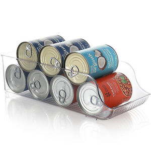 Clear Storage Bins with Handles Stackable Fridge Freezer Pantry Organizer Bins