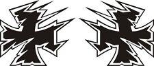2x Eisernes Kreuz Aufkleber 12x10 cm IRON CROSS Auto Tuning  Biker Tribal (40)