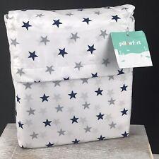 Blue and Gray Stars Microfiber Twin Sheet Set - 3 Pieces - Pillowfort Bedding