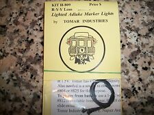 Tomar HO Scale Adlake Marker Lights with Lights! Yellow-Yellow-Red H809 BTTG