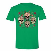 e59bb0ef3 Sugar Skull Day of the Dead T-shirt Black Mexican Flower Dia Los Muertos  shirt