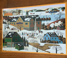 """Vintage Hometown Collection 1000 Pc Jigsaw Puzzle """"Maple Sugaring"""" 1996"""