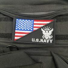 AMERICAN USA FLAG MARINE U.S.NAVY PRESIDENT MORALE HOOK PATCH FULLCOLOR BADGE