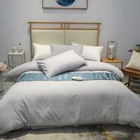 Cotton Warm Skin Duvet Cover Winter White Grey Bedding Set Bed Sheet Set  4Pcs