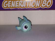 Littlest PetShop POISSON CLOWN TURQUOISE YEUX VIOLETS 1315 FISH Pet Shop B008