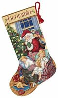 """Counted Cross Stitch Christmas Stocking KIT Sweet DREAMS Dimensions 16"""""""
