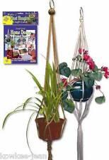 Macrame plant hangers kit, plus rugmaking knit crochet    #156.  Makes 2 hangers