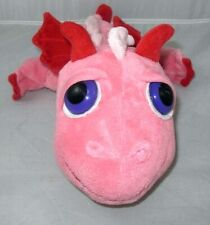 RUSS BERRIE LIL PEEPERS FLAME SOFT PLUSH WITH BIG EYES PINK DRAGON