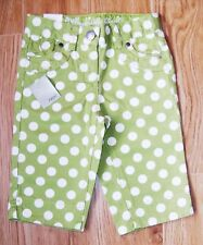 BNWT NEXT GIRLS CROP JEANS 3 YRS 2-3 NEW HOLIDAY PARTY GREEN PANTS SUMMER TOP