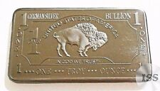 Fine .999 German Silver Ingot Toz Pure Buffalo Bar Fractional Bullion Collection