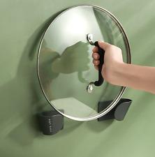Rack Self Adhesive Pot Lid Holder Rack Holder Wall Mounted Kitchen Tools Utensil