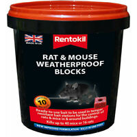 Rat Mouse Killer Poison Mice Rodent Bait Box Weatherproof Blocks 10 Pc Rentokil
