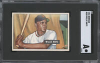 WILLIE MAYS 1951 BOWMAN ROOKIE CARD #305📈INVESTMENT CARD🔥HOF RC🔥SGC AUTHENTIC