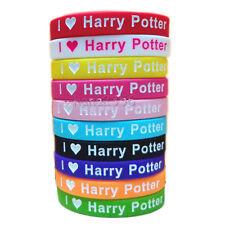 10pcs  I  Love Harry Potter magic Silicone Bracelet Rubber WristbandsHarry Potte