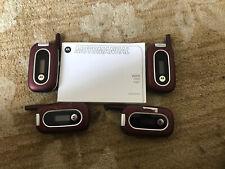 4 Motorola W315 Flip Phone (Alltel) red